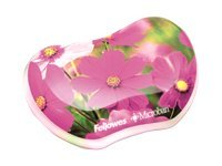 Fellowes Photo Gel Utility Wrist Rest with Microban, Pink Flowers, 9179201, 15054685, Ergonomic Products