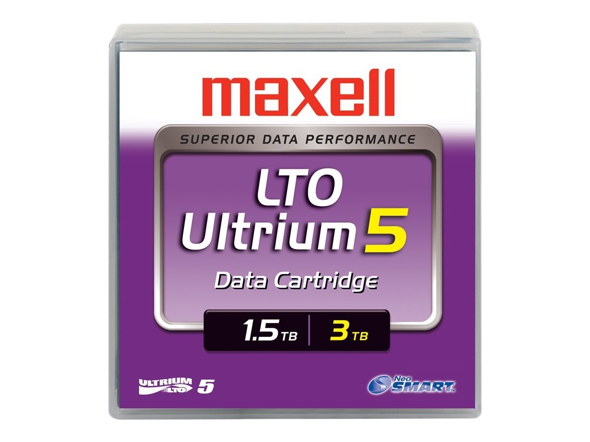 Maxell 1.5TB 3TB LTO-5 Ultrium Tape Cartridge, 229323, 11263252, Tape Drive Cartridges & Accessories