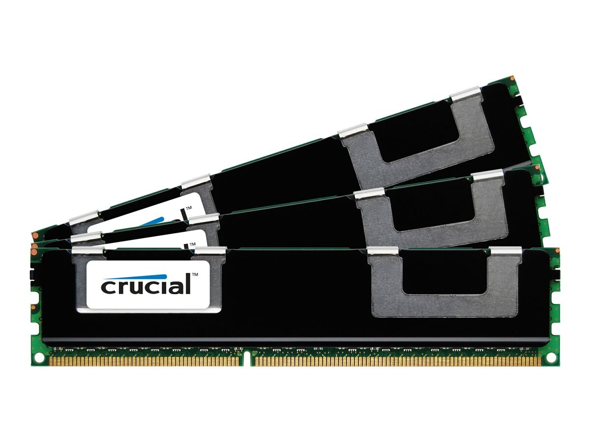 Crucial 12GB PC3-14900 240-pin DDR3 SDRAM DIMM Kit, CT3K4G3ERSDD8186D, 15517379, Memory