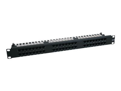 Tripp Lite 48-Port Cat6 Cat5 Patch Panel High Density 110 Punch down Rackmount 1URM TAA