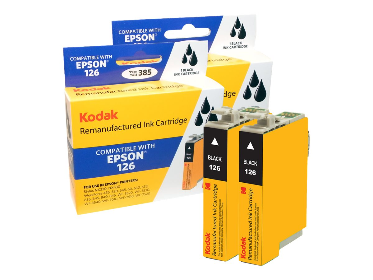 Kodak T126120-D2 Black Ink Cartridges for Epson Stylus NX330, T126120-D2-KD