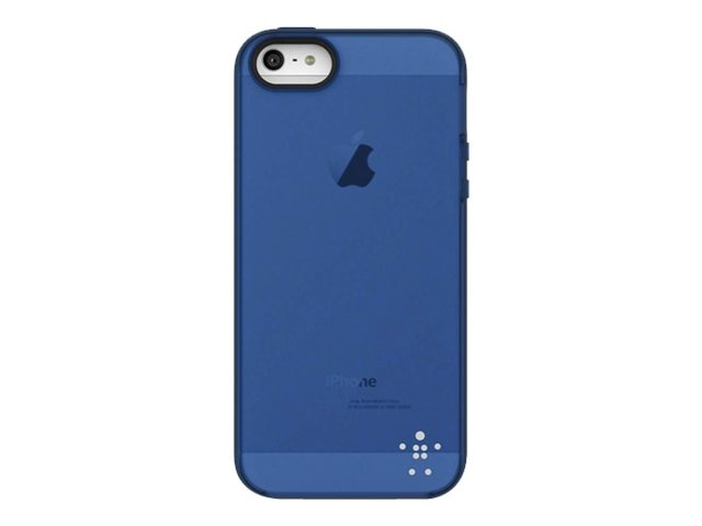 Belkin Grip Candy Sheer Case, Overcast Civic Blue for iPhone 5, F8W138TTC08, 14860888, Carrying Cases - Phones/PDAs