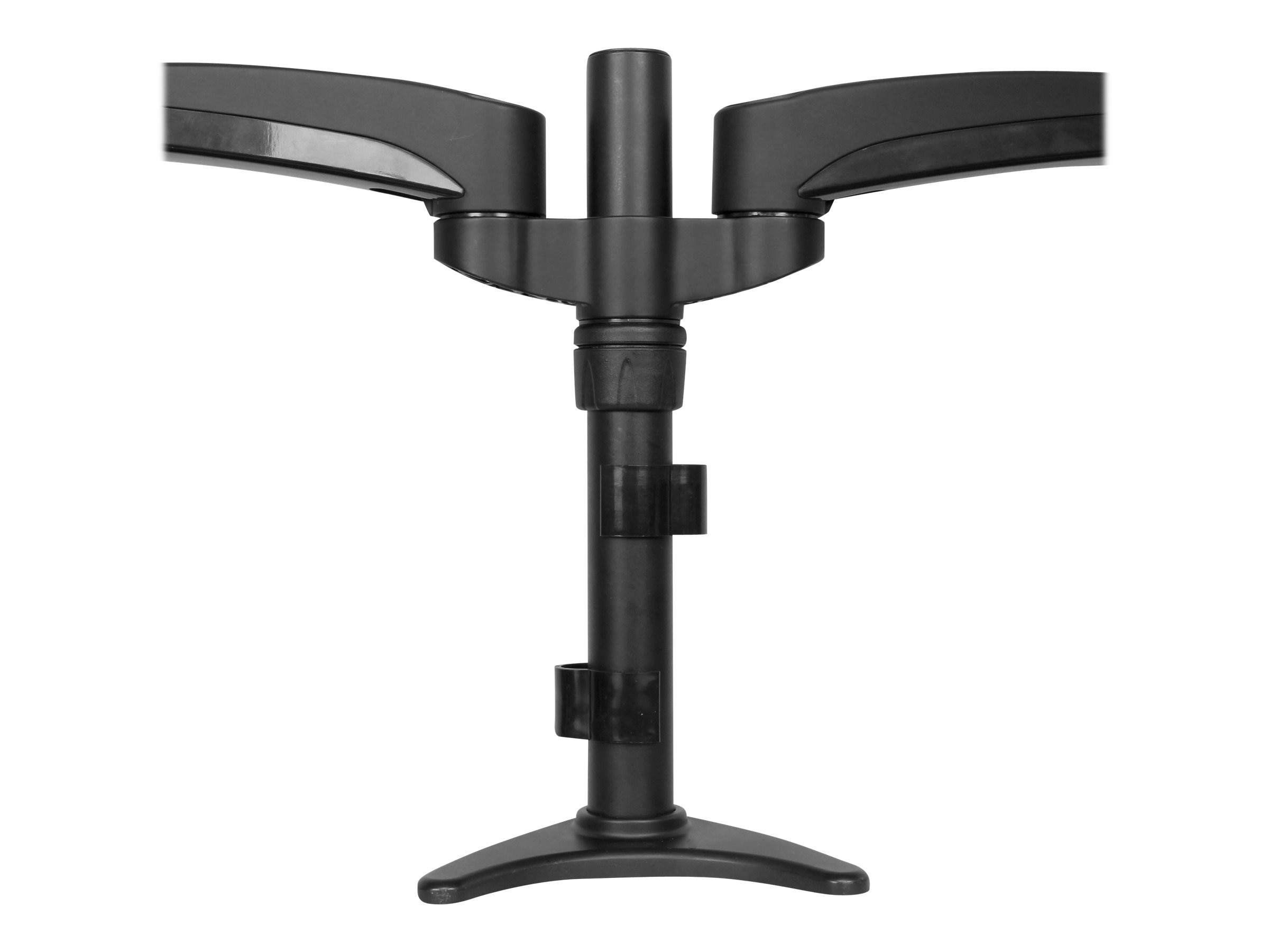 StarTech.com Articulating Dual Monitor Arm and Grommet Desk Mount with Cable Management & Height Adjust, ARMDUAL
