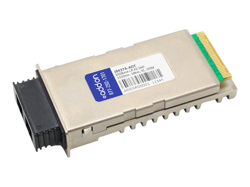 ACP-EP X2 10KM LR SC XCVR TAA XCVR 10-GIG LR DOM SC Transceiver for HP, J8437A-AOT