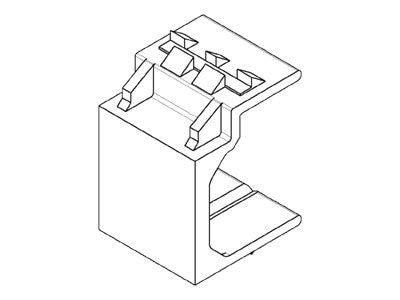 AMP Blank Insert for SL Series Modules and Mounting Straps, Almond (Sold per Foot), 1116412-1, 13095176, Premise Wiring Equipment