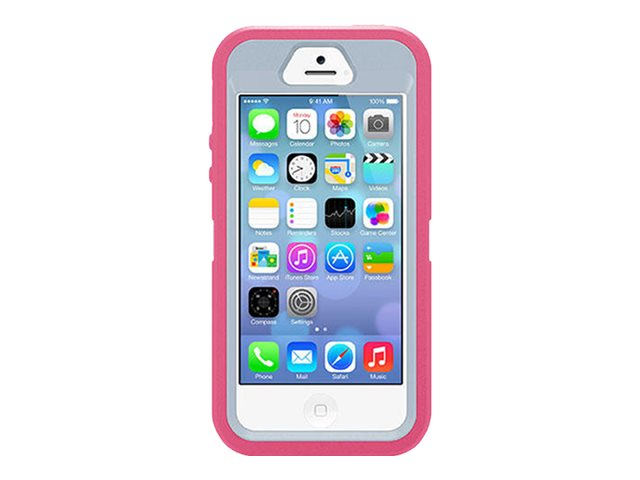 OtterBox Defender Series for iPhone 5 5S, Wild Orchid, 77-33330, 17705373, Carrying Cases - Phones/PDAs