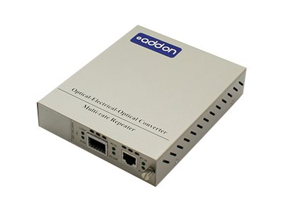 ACP-EP 10Gbps RJ-45 to XFP Media Converter Standalone Kit, ADD-MCC10GRJXFP-SK