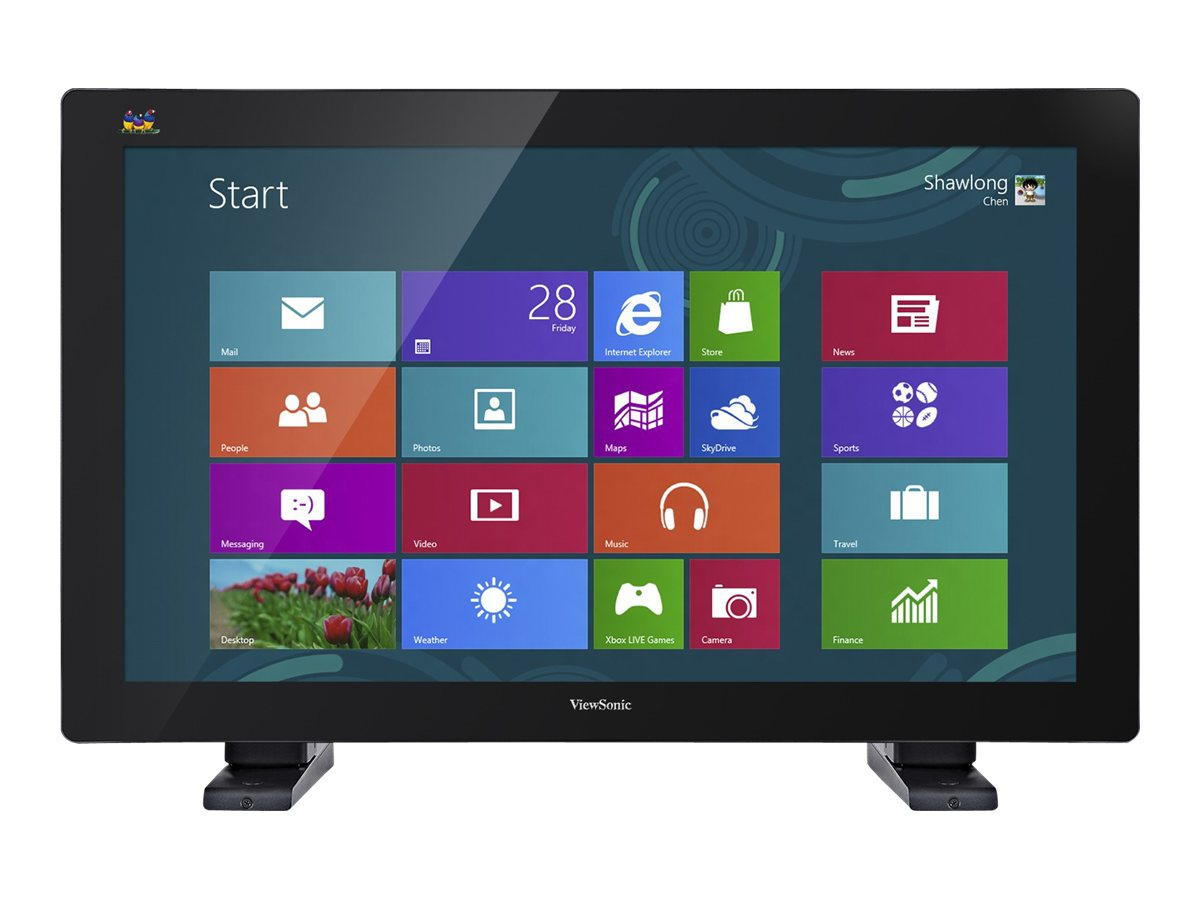 ViewSonic 32 TD3240 Multi-Touch Full HD LED-LCD Monitor, Black, TD3240, 15900765, Monitors - Large Format - Touchscreen/POS