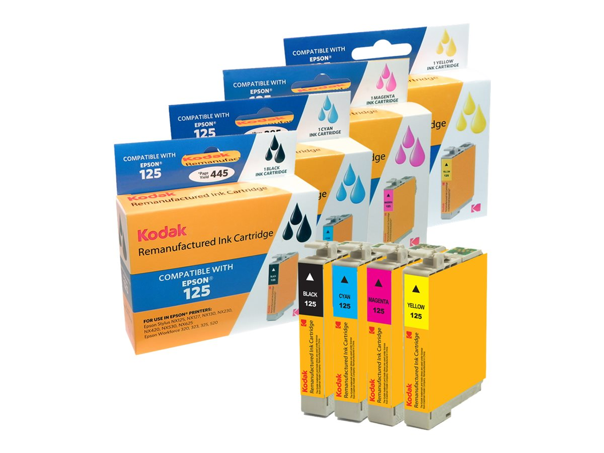 Kodak T125120-BCS Ink Cartridge Combo Pack for Epson Stylus, T125120-BCS-KD