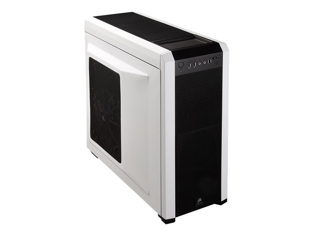 Corsair Carbide Series 500R Mid Tower Case, ATX, 4x5.25, 6x3.5, 8 Slots, White, CC-9011013-WW