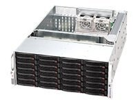 Supermicro High Density 4U Storage Chassis, 1200W RPSU, CSE846AR1200B, 9900611, Cases - Systems/Servers