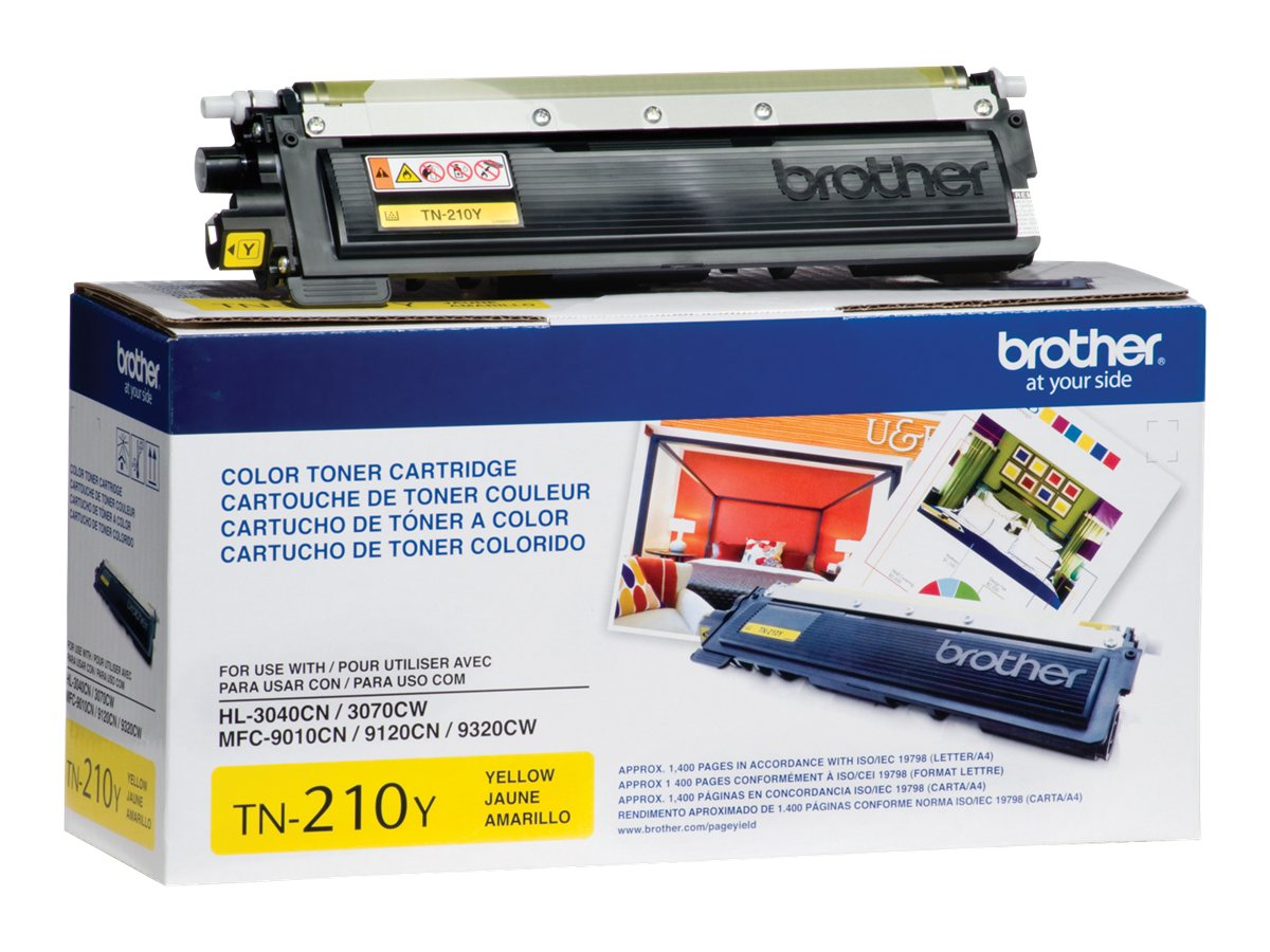 Brother Yellow TN210Y Toner Cartridge, TN210Y