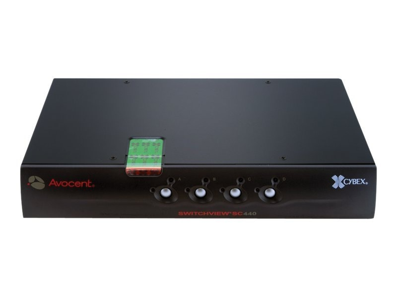 Open Box Avocent Cybex, NIAP, EAL4+, TAA Compliant, Switch 1x4 USB DVI w  Audio, CAC Support, SC440-001