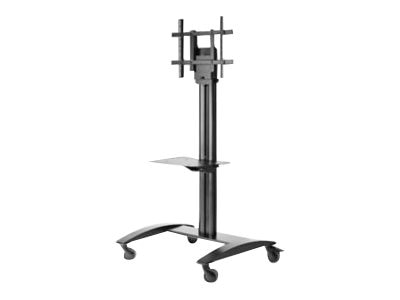 Peerless Full Featured Flat Panel Cart for 32 to 75 Displays, Black, SR575M, 18951841, Stands & Mounts - AV