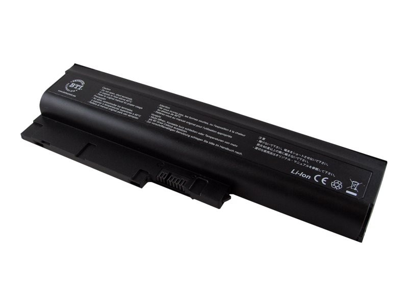 BTI Battery, Lithium-Ion, 11.1 Volts, 4800mAh, for Select ThinkPad R60 T60 Series, IB-T60, 7906981, Batteries - Notebook