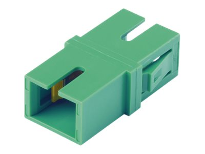 Panduit SC-SC Singlemode Simplex Fiber Optic Adapter, Green, 50-Pack