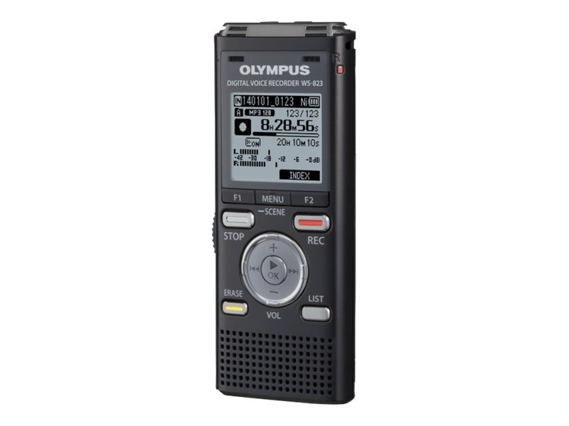 Olympus WS-823 Black Voice Recorder - 8GB, V406191BU000, 30843607, Voice Recorders & Accessories