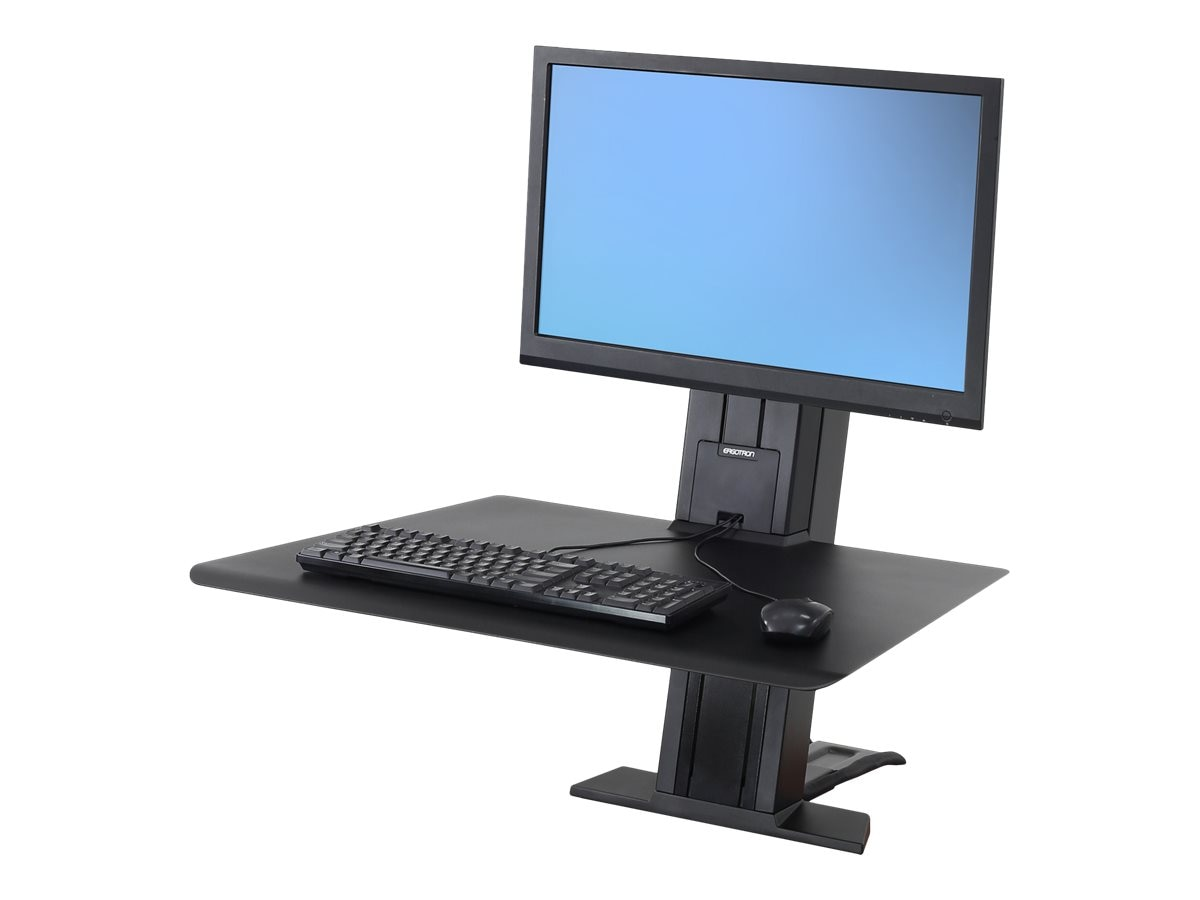 Ergotron WorkFit-SR, 1 Monitor, Sit-Stand Desktop Workstation, Black, 33-415-085
