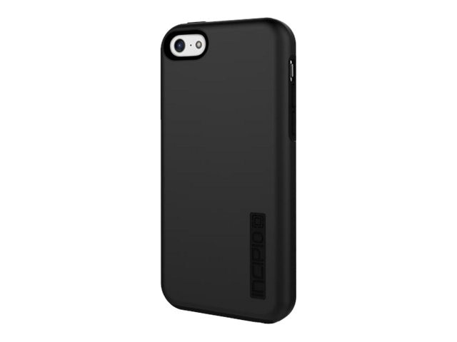 Incipio DualPro Hard Shell Case w  Impact Absorbing Core for iPhone 5c, Black, IPH-1145-BLK