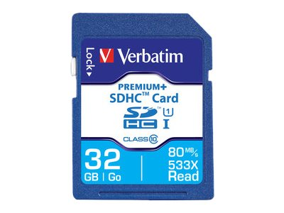 Verbatim 32GB UHS-I SDHC Flash Memory Card, Class 10, 98727