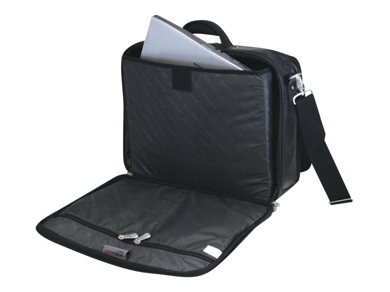 Mobile Edge 17 Premium Briefcase, Charcoal Black, 1680D Ballistic Nylon