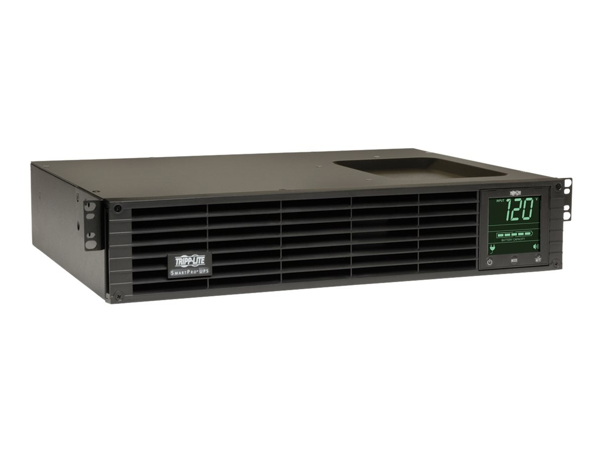 Tripp Lite SmartPro 1.5kVA 1.35kW 120V Line Interactive 2U Rack Tower UPS, Interactive LCD, USB RS-232, EPO, SMART1500RM2U, 4825780, Battery Backup/UPS