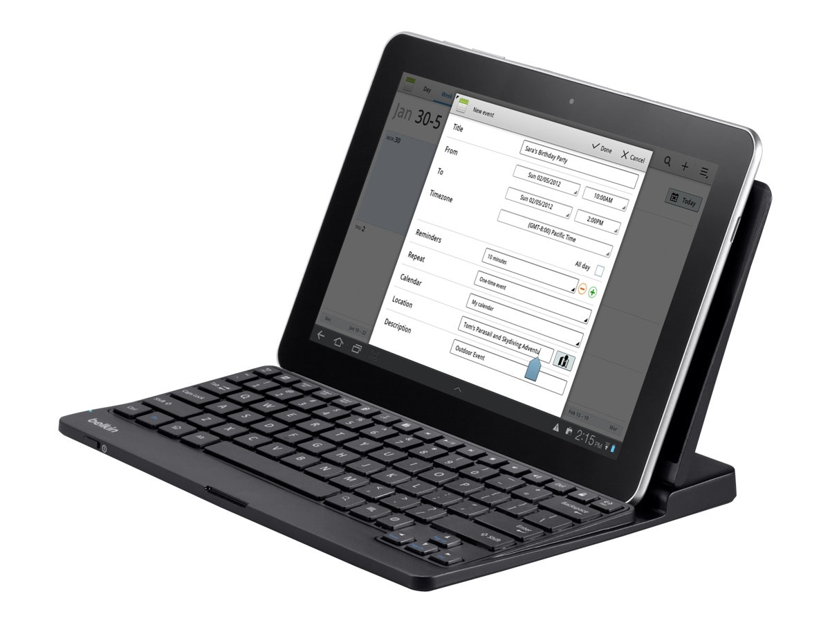 Belkin YourType Android Keyboard and Stand, F5L112TT