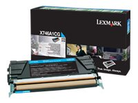 Lexmark Cyan Return Program Toner Cartridge for X746de & X748 Color Laser MFP Series