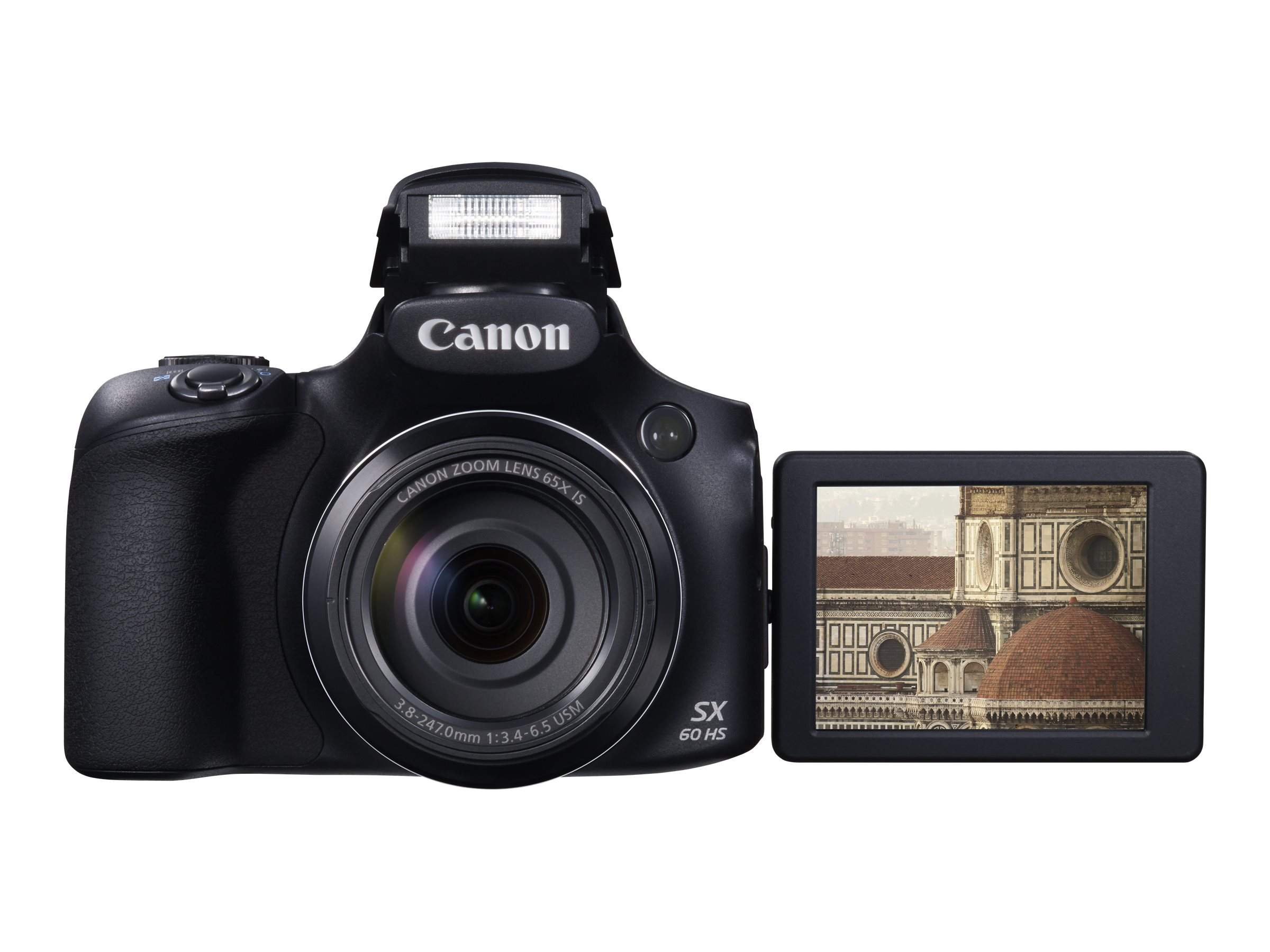 Canon PowerShot SX60 HS Digital Camera, 16.1MP, 65x Zoom, Black, 9543B001