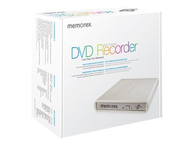 Memorex 8x Multiformat Slim External DVD Recorder, 98251