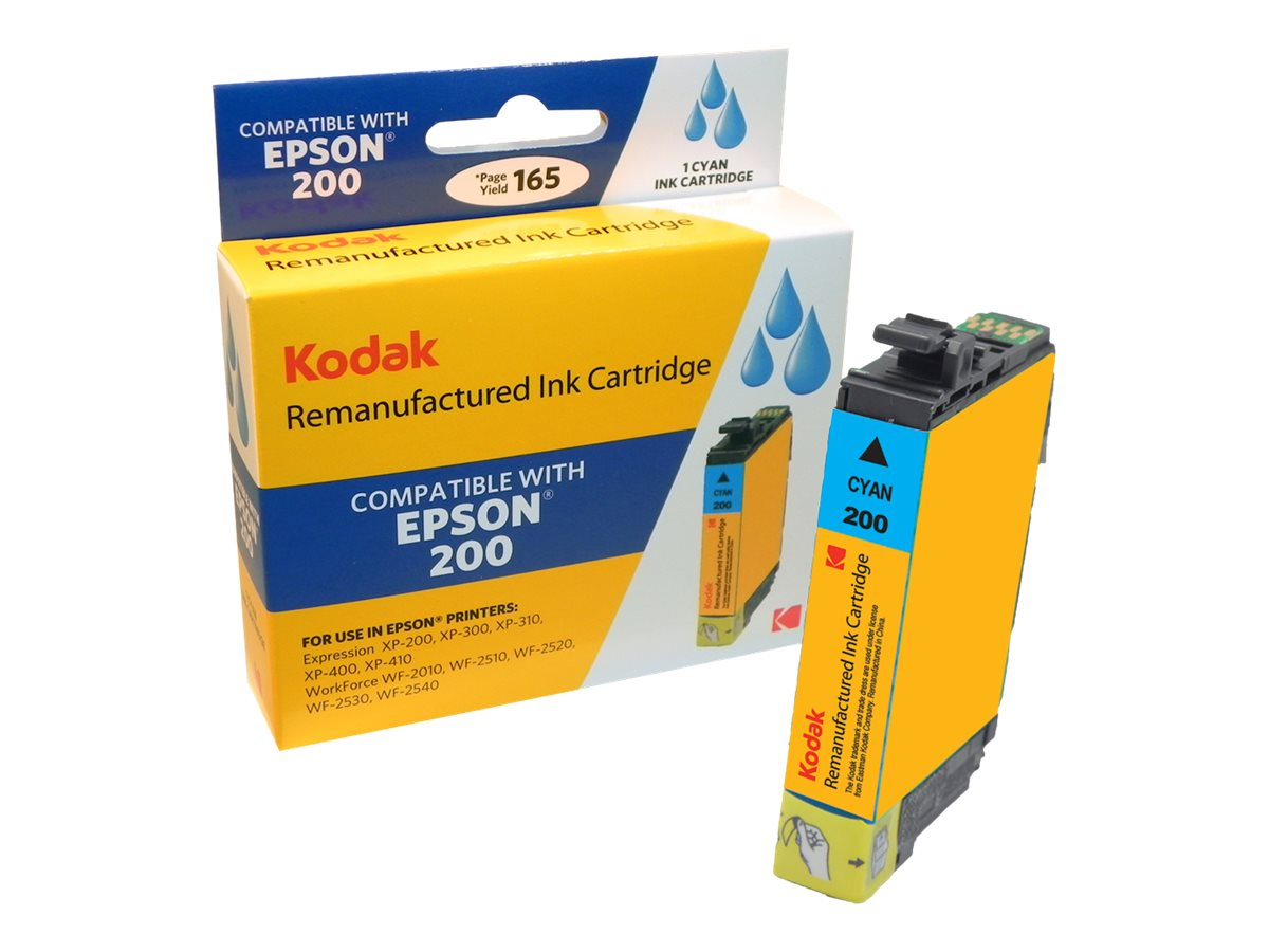 Kodak T200220 Cyan Ink Cartridge for Epson XP200, T200220-KD