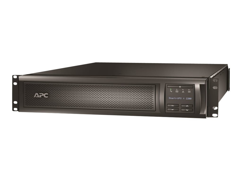 APC Smart-UPS X 2200VA 100-127V 2U Rack Tower LCD, Extended R T, L5-30P Input Plug 8ft Cord (8) Outlets, SMX2200RMLV2U, 10336093, Battery Backup/UPS
