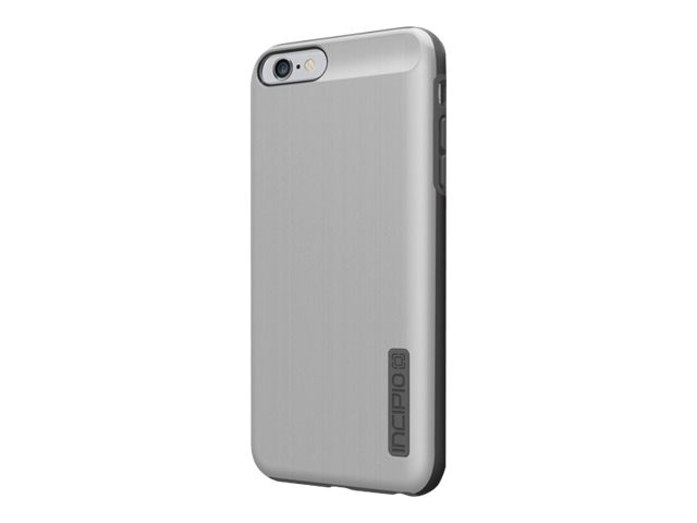 Incipio DualPro Shine Dual Layer Protection w  Brushed Aluminum Finish for iPhone 6 6S Plus, Silver Gray