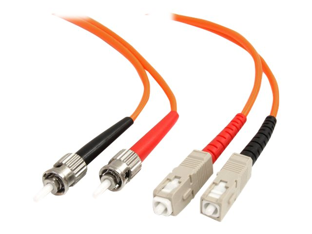StarTech.com Fiber Optic Patch Cable ST-SC 62.5 125um Duplex Multimode, 1m, FIBSTSC1, 185842, Cables