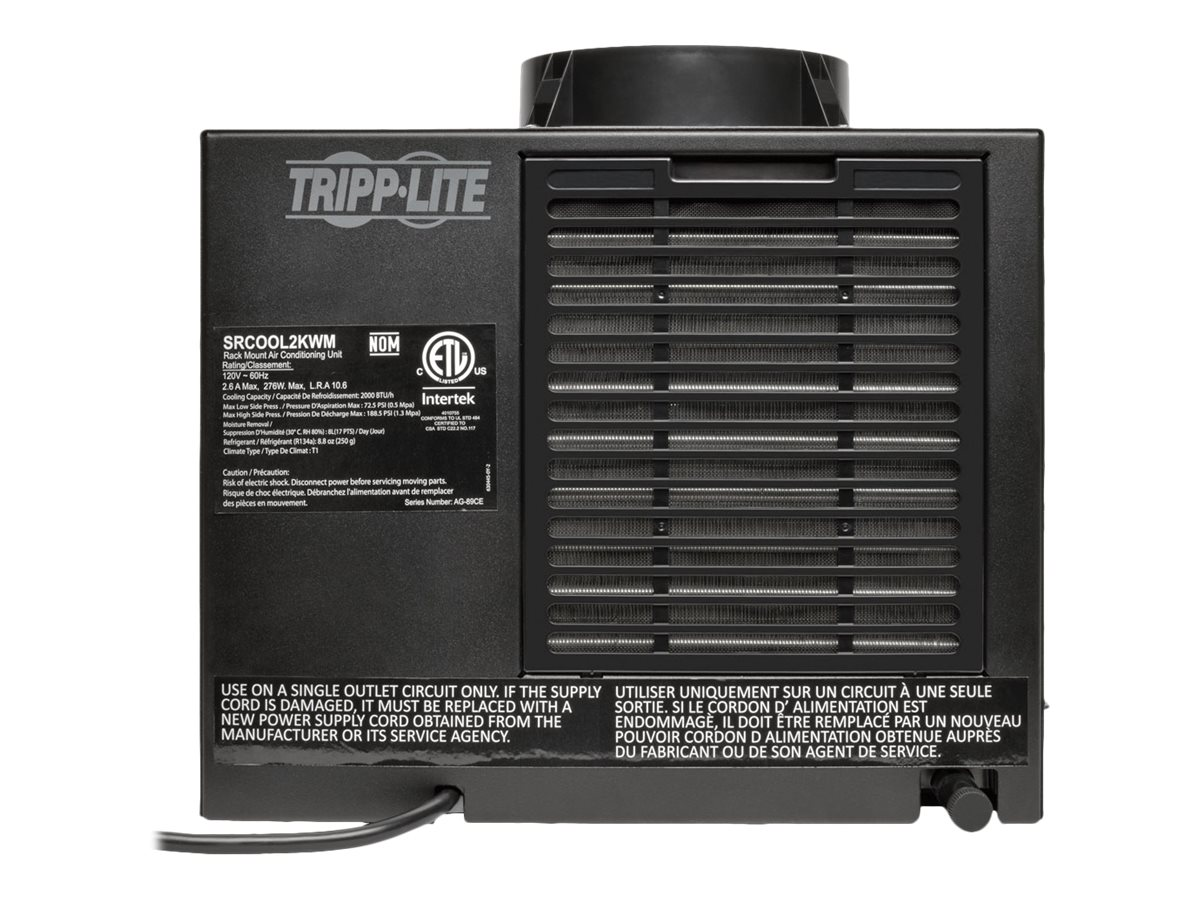 Tripp Lite SmartRack 120V Air Conditioning Unit for Wall-Mount Rack Cabinets, 2,000 BTU, SRCOOL2KWM