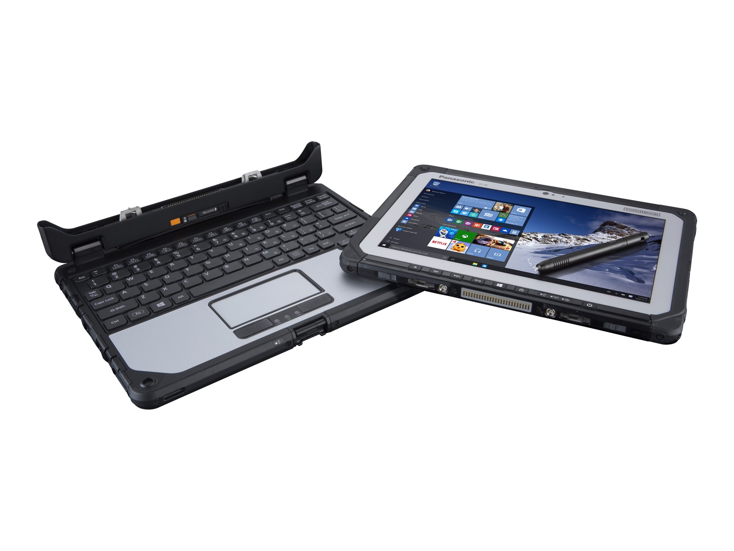 Panasonic Toughbook 20 vPro Core M5-6Y57 1.1GHz 10.1 WUXGA MT W7 (W10P COA), CF-20C0255KM