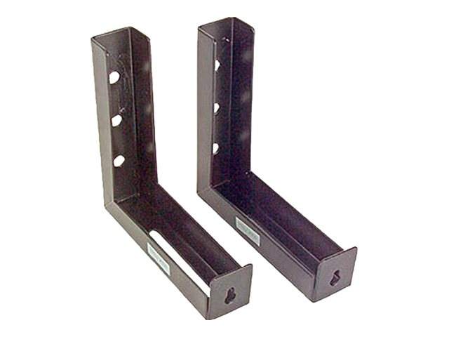 Elite L Bracket for Wall or Ceiling Screen 6, Pair, Black, 6in, ZVMAXLB6-B, 8552678, Projector Screen Accessories