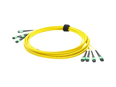 ACP-EP Fiber SMF Trunk 48 4MPO x 4MPO Female Type A OS1 Cable, 5m, ADD-TC-5M48-4MPF1