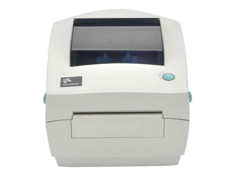 Zebra GC420 DT 203dpi USB Serial Parallel Printer w  US Cords & Peeler, GC420-200511-000