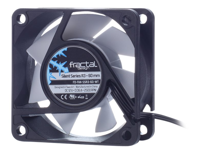 Fractal Design Silent Series R3 60mm Fan, FD-FAN-SSR3-60-WT, 22244971, Cooling Systems/Fans