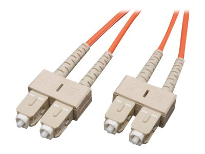 Tripp Lite Fiber Optic Patch Cable, SC-SC, 62.5 125, Duplex Multimode, 10ft, N306-010, 235655, Cables