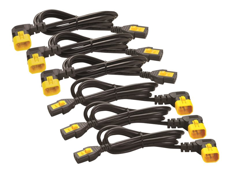 APC Power Cord Kit, Locking, R A, C13 to C14, 6ft 1.8m, North America (qty 6), AP8706R-NA, 15801652, Power Cords