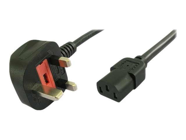 APC Power Cord UK Plug to IEC-320 C13 10A 250V, Black, 2m, 40096-2M