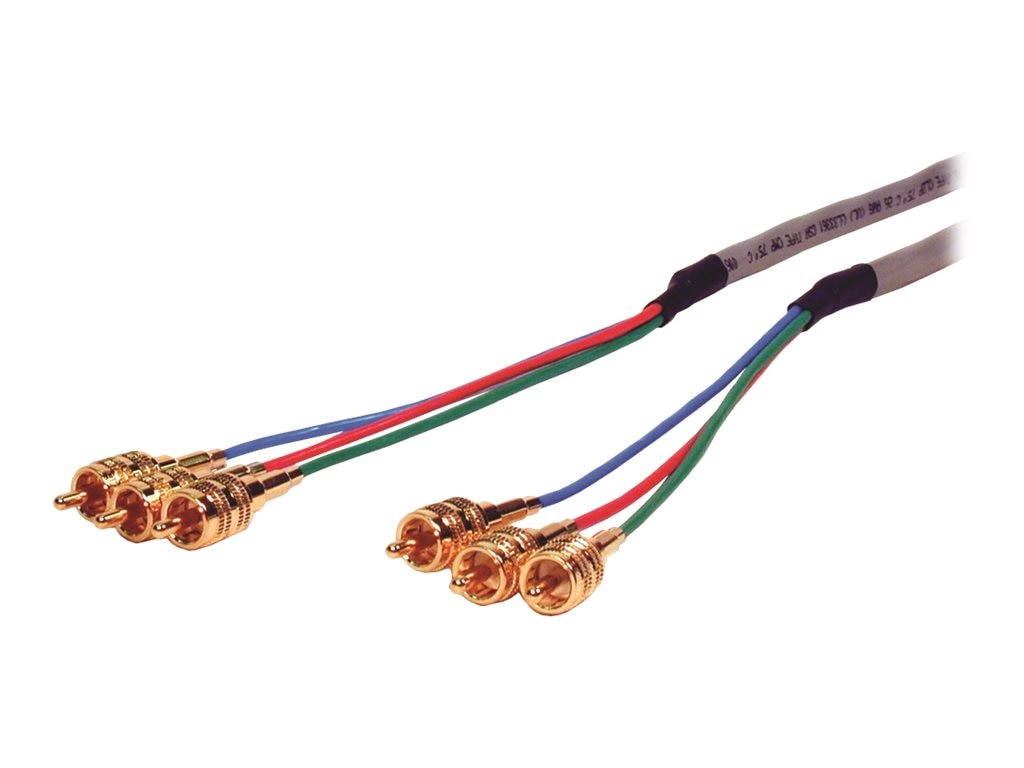 Comprehensive Plenum 3 RCA Component Video HR Pro Series Cable, 35ft.