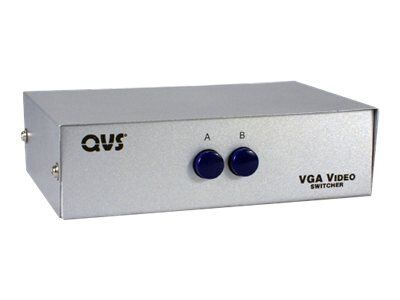 QVS 2-Port HD15 VGA SXGA Manual Switch, CA298-2P, 13504195, Switch Boxes - AV