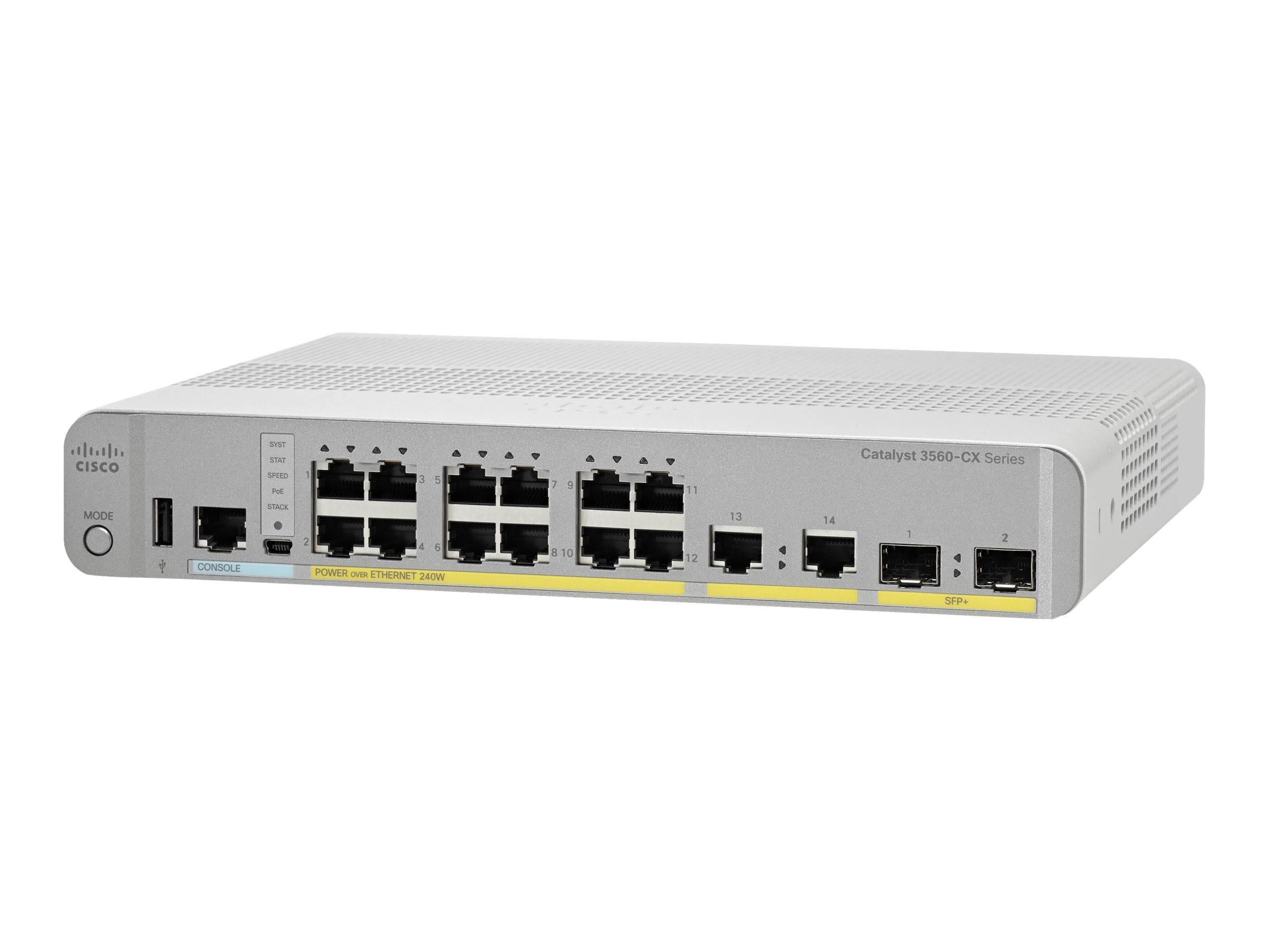 Cisco Catalyst 3560-CX 12PT POE 10G IP Uplinks, WS-C3560CX-12PD-S, 18459101, Network Switches