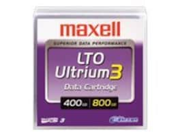 Maxell LTO Ultrium 3 Data Cartridge w  Case, 183900, 33564241, Tape Drive Cartridges & Accessories