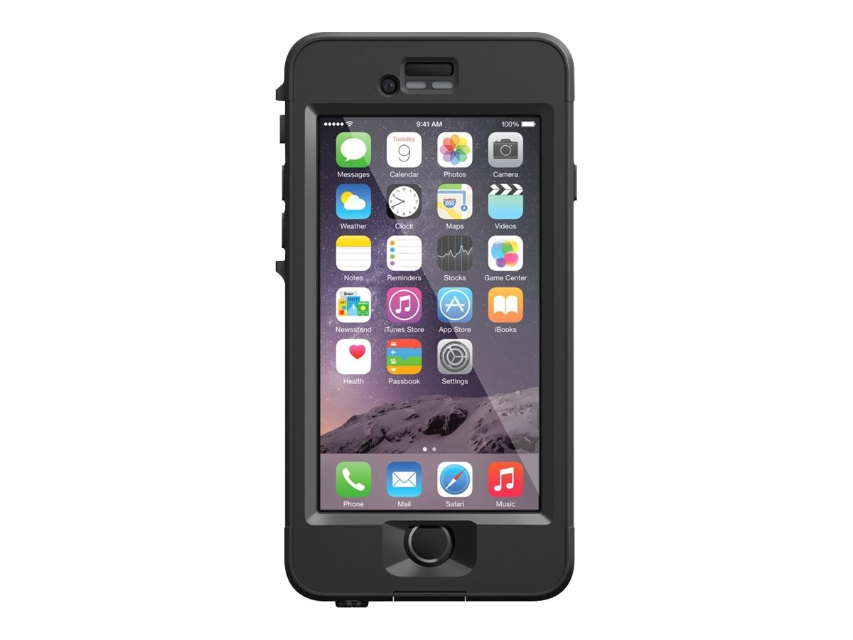 Lifeproof Nuud V2 for iPhone 6, Black, 77-51111, 23208277, Carrying Cases - Phones/PDAs
