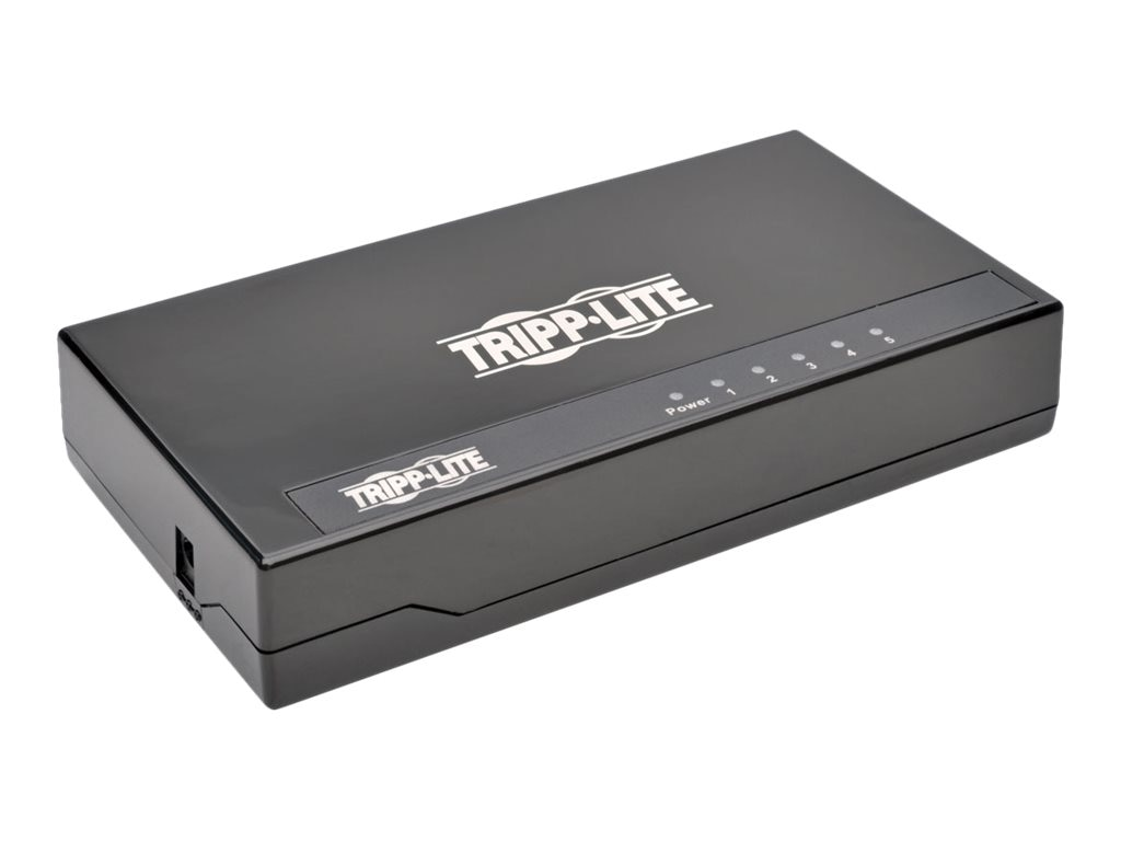 Tripp Lite 5-Port Gb Plastic Desktop Switch
