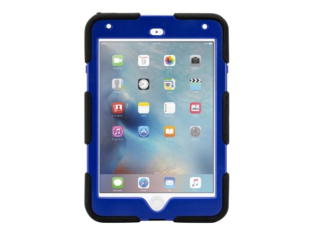 Griffin All-Terrain Military Duty Anti-Shock Case w  Stand for iPad mini 4, Blue